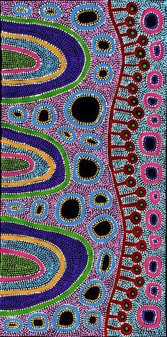 http://www.ebay.com.au/itm/Aboriginal-Art-by-Raelene-Stevens-53cm-x-108cm-/142165962392?hash=item2119c06e98:g:JkQAAOSwA3dYFw7-
