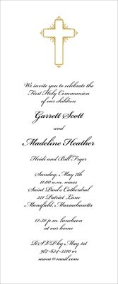 Antiqued Cross Invitations