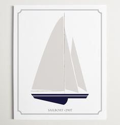Whether it's a trip to Tahiti or a voyage to Venezuela, let kids' imaginations sail away with this stunning sailboat print.