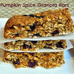 Mom, What's For Dinner?: Pumpkin Spice Granola Bars