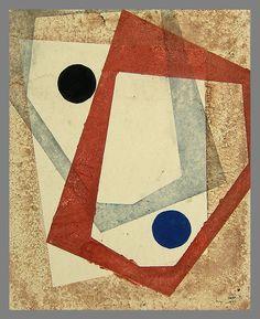 Koshiro Onchi, Forme No. 1909, 1953 woodblock print