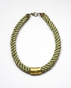 Green Chain Suede Necklace | BRIKA - A Well-Crafted Life #BRIKAgiftlist