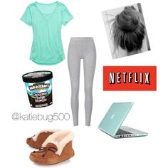 """Sick Day With Ben & Jerry"" by katiebug500 on Polyvore"