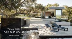 """Von guter Architektur und schönen Dingen kann man nicht genug bekommen. Und schon gar nicht wenn solche zeitlosen Objekte, wie das sogenannte """"Oak Pass House"""" in den malerischen, trockenen Hügeln der Hollywood Hills liegen. Alleine schon der Name lässt viel Schönes vermuten: Gelegen auf einem Eichenpass mit ca. 750 Quadratmetern und einem 27m langen Infinity-Pool. Gebaut wurde des Juwel vom kalifornischen Architekturbüro Walker Workshop. Fotografiert"""