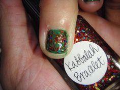 Kabbalah Bracelet over CND Green Scene #546