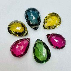 Rainbow Moonstone 7x5mm Pear Cabochon Loose Gemstones w// Multi-Qty Discount