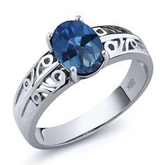 130 Ct Oval Royal Blue Mystic Topaz 925 Sterling Silver Ring >>> Check this awesome product by going to the link at the image.Note:It is affiliate link to Amazon.