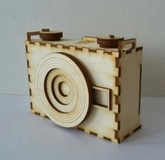 Wooden pinhole camera