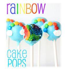 Cute Rainbow Cake Pop With Smarties