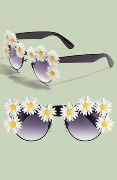 Gasoline Glamour 'Coco' Sunglasses available at Crazy Sunglasses, Retro Sunglasses, Sunglasses Women, Flower Child Style, Shady Lady, Summer Of Love, Business Casual, Eyeglasses, Girly