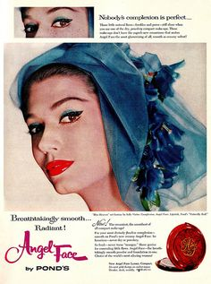 A captivatingly gorgeous Pond's ad from 1959 for their Angel Face line.