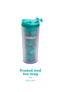 A double-walled travel mug, made of BPA-free frosted Tritan.