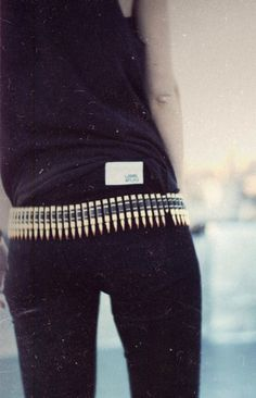 Nice, you know you want to show off your superhero aka:  Laura Croft - side.  Bullet belt.