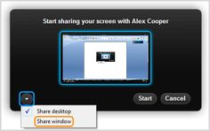 Working with a colleague online and need to see what they see? Check out the share my screen option in Skype. It's free to share with one person, but you can share with multiple colleagues with a paid upgrade. https://support.skype.com/en/faq/FA10215/how-do-i-share-my-screen-in-skype-for-windows-desktop#