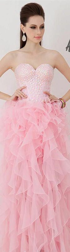 Pink Ruffle Ballgown