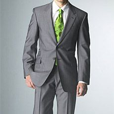 PAUL SMITH GRAY TONIC SUIT  Every man needs a gray suit — and every man should own at least one item designed by Paul Smith. (Hey, he's British and he's the CEO of his own company — how could you not like him.) The Paul Smith Tonic Suit in gray ($1,200) features a single-breasted, two-button front and flat-front pants, and can go from work to play with a quick switch of your shirt.