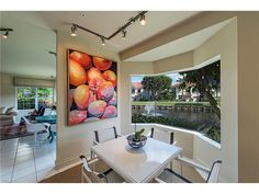 Breakfast Area Overlooking Lake #lakeviewcondo #fl #naples
