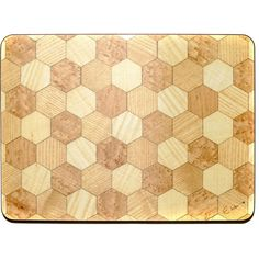 6 Placemats Buttermilk Honey tablemats Hexagon design Place mats Retro... (€54) via Polyvore featuring home, kitchen & dining, table linens, retro placemats, retro table linens, wood placemats, wooden placemats and rectangular placemats