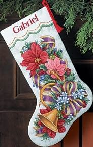 Holiday Harmony Stocking Dimensions Gold Christmas Cross Stitch Kit New 8713 Cross Stitch Christmas Stockings, Cross Stitch Stocking, Christmas Stocking Pattern, Xmas Stockings, Christmas Cross, Counted Cross Stitch Kits, Cross Stitch Embroidery, Cross Stitch Patterns, Cross Stitches