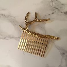 Spotted while shopping on Poshmark: Rapunzel's Stag - Gold tone hair comb! #poshmark #fashion #shopping #style #Free People #Accessories