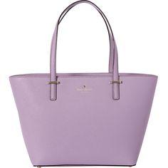 Kate Spade New York Cedar Street Mini Harmony Tote ($228) ❤ liked on Polyvore featuring bags, handbags, tote bags, purple, tote bag purse, purple purse, kate spade tote, tote handbags and purple tote