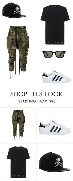 """""""Untitled #15"""" by butterflyking ❤ liked on Polyvore featuring beauty, Unravel, adidas, Philipp Plein and Ray-Ban"""