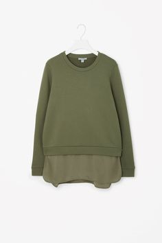COS | Silk panel sweatshirt