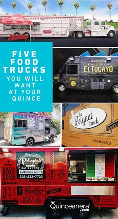Book a food truck for your Quinceanera! Change up your catering experience with a food truck and have your guests enjoy delicious options. Quinceanera Planning, Quinceanera Party, Rent A Food Truck, Food Trucks, Steps In Planning, Food Trailer, Burger And Fries, Mexican Dishes, Types Of Food