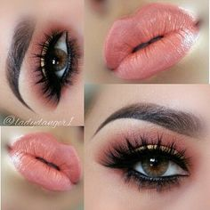 The girls whose brow shaping, eye makeup, foundation and lipstick game look so Eye Makeup, Kiss Makeup, Flawless Makeup, Gorgeous Makeup, Pretty Makeup, Beauty Makeup, Hair Makeup, Alien Makeup, Top Beauty
