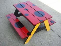 Ladybug table for kids!