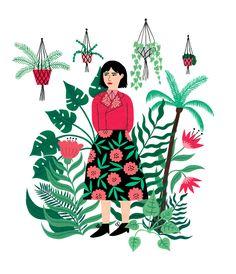 Jungle Girl Illustration