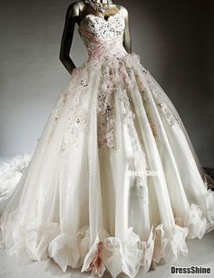 I like this - Luxury Sweetheart Neckline Organza with Beading and Flower(s) A-Line Wedding Dresses. Do you think I should buy it?