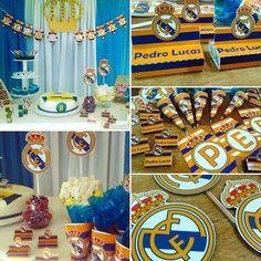 Festa Real Madrid do pequeno Pedro Lucas ⚽ #portabis #conedeguloseimas #bandeirola #topper #festarealmadrid #realmadrid #football #futebol #partyrealmadrid