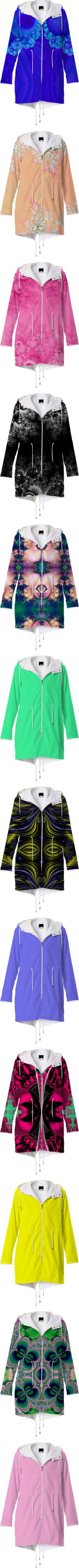 * MY #RAINCOATS FOR SALE * by artist4god-rose-santuci-sofranko on Polyvore featuring polyvore, fashion, clothing, #outerwear, coats, blue raincoat, rain coat, blue coat, abstract, floral, flowers, fractal, hooded coats, hooded raincoat, nylon coat, red coat, hooded rain coat, jackets, raincoat, pink rain coat, pink coat, black raincoat, tops, green top, purple coat, purple rain coat, yellow rain coat, yellow coat, yellow raincoat, butterflies, pink raincoat, purple raincoat, red rain coat…