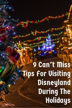 Planning a trip to the Happiest Place on Earth this holiday season? Here are some tips you'll need to know!
