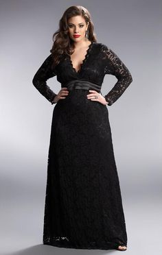ANALISA LACE COLUMN DRESS BLACK