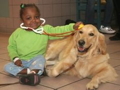 Pet Therapy- one of the best kinds of medicine for sweet hospitalized kiddos.