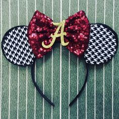 tailgate accessories Crimson Tide Alabama bow knot game day headband college football roll tide Alabama Crimson Tide Turban