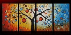 Tree of Life, Abstract Painting, Bedroom Wall Art, Large Painting, Abs – Art Painting Canvas Canvas Wall Art, Abstract Art Painting, Hand Painting Art, Abstract Painting, Painting, Abstract Wall Art, Cool Paintings, Abstract, Stretched Painting