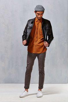 Stapleford Solid Dobby Flannel Button-Down Workshirt
