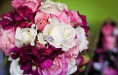 DIY Wedding Bouquet.....pink, white, burgundy