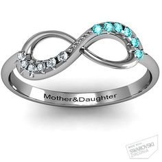 Infinity Accent Ring #jewlr  Super cute! Have to get for me and my Daughter!!