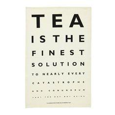 Ulster Weavers eye test tea towel | Best Tea Towels | Red Online