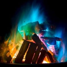 Rainbow Fire - Crystals you can add to your fire to make it burn different colors - www.thegoodstuffguide.com