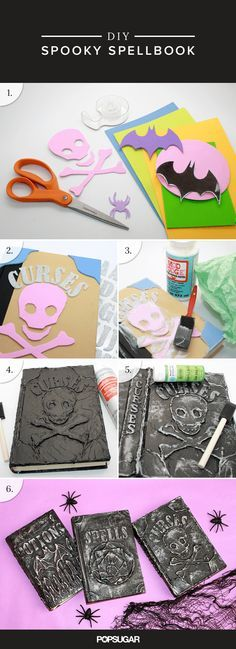 Hosting a Halloween Bash This Year? Don't Miss Out on This Eerily Easy DIY Recycle old books that you'll never read again into a library of DIY Spell Books that are sure to add a spooky touch to your Halloween decor. You'll even Diy Halloween Spell Book, Halloween Spells, Theme Halloween, Halloween Projects, Diy Halloween Decorations, Holidays Halloween, Halloween Crafts, Holiday Crafts, Holiday Fun
