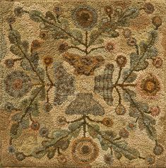 Yesterday's Spring by Lin Wells - Pattern Only or Complete Rug Hooking