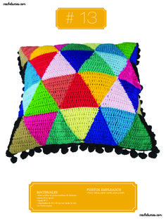 Crochet Almohadones #13 Bags, Fashion, Pillow Design, Dots, Handbags, Moda, Fashion Styles, Fashion Illustrations, Bag