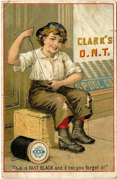 Clark's O.N.T. Spool Cotton. This is FAST BLACK and don't you forget it!, via Flickr.