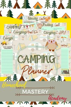 Camping Planner Printables #camping #planners #printables #campingprintables