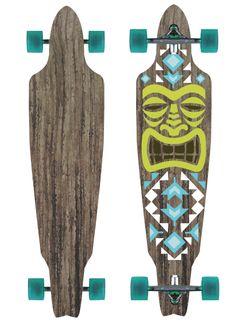 Diseño de longboard, tema TIKI, tribal